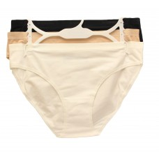 Columbia Four-Way Stretch Bikini 3-Pack White/Nude/Black LG