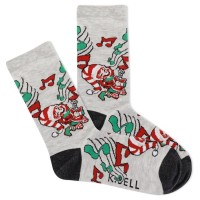 K.Bell Women's Rockin' Elf Crew Socks 1 Pair, Gray Heather, Women's 4-10 Shoe