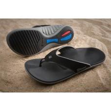 Spenco Mens Polysorb Total Support Granite Black/Grey Sandals