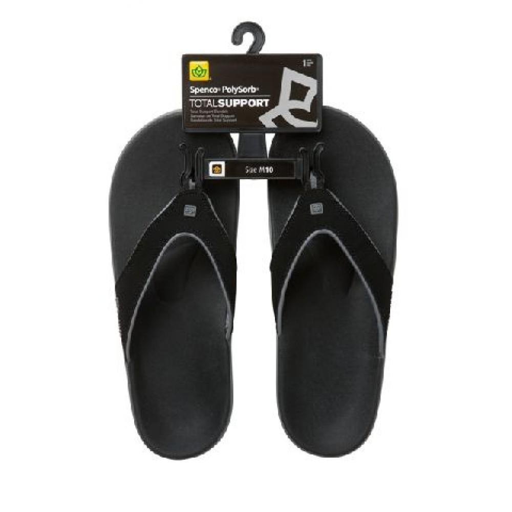 Spenco Polysorb Total Support Sandal - Men's Granite, Black, Men's 8