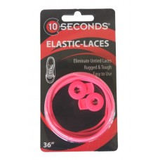 Ten Seconds Elastic Laces, Neon Pink