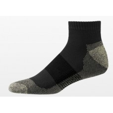 Aetrex Copper Sole Socks, Athletic, Ankle, Black