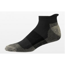 Aetrex Copper Sole Socks, Athletic, Low Cut, Black