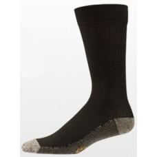 3-Pack Aetrex Copper Sole Socks, Mens Dress/Casual, Crew, Black