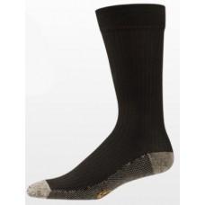 Aetrex Copper Sole Socks, Mens Dress/Casual, Crew, Brown