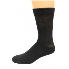 Carolina Ultimate Diabetic Non-Binding Crew Socks 2 Pair, Black, Men's 9-13