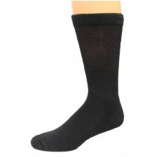 Carolina Ultimate Diabetic Non-Binding Crew Socks 2 Pair, Black, Men's 13-16