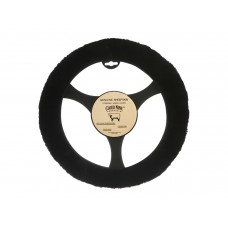 Cloud Nine Sheep Skin Steering Wheel Cover, Black