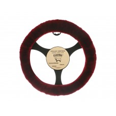 Cloud Nine Sheep Skin Steering Wheel Cover, Burgundy
