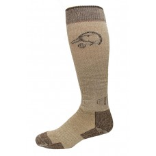 Ducks Unlimited All Season Merino Wool Boot Socks, 1 Pair, Brown, X-Large, M 12-16