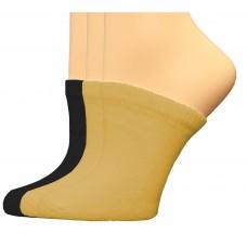 FeetPeople Premium Clog Socks 3 Pair, Nude/Nude/Black