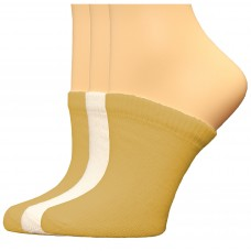 FeetPeople Premium Clog Socks 3 Pair, Nude/Nude/White