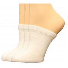 FeetPeople Premium Clog Socks 3 Pair, White