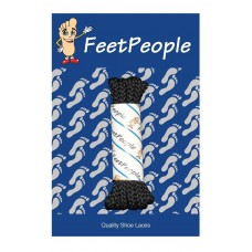 FeetPeople Brogue Casual Dress Laces, Black