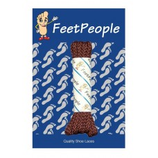 FeetPeople Brogue Casual Dress Laces, Chocolate Brown