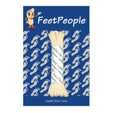 FeetPeople Brogue Casual Dress Laces, Ivory