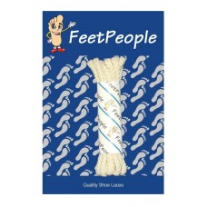 FeetPeople Brogue Casual Dress Laces, Light Bone