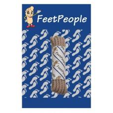 FeetPeople Brogue Casual Dress Laces, Medium Mocha