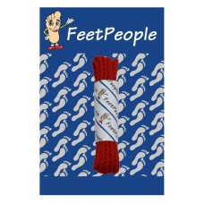 FeetPeople Brogue Casual Dress Laces, Red