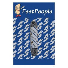 FeetPeople Brogue Casual Dress Laces, Silver