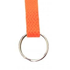 FeetPeople Flat Key Chain, Neon Orange