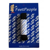 FeetPeople Flat Laces For Boots And Shoes, Black