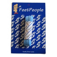 FeetPeople Flat Laces For Boots And Shoes, Carolina Blue