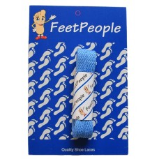 FeetPeople Flat Laces For Boots And Shoes, Blue