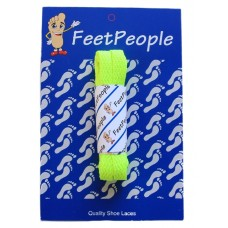 FeetPeople Flat Laces For Boots And Shoes, Neon Yellow