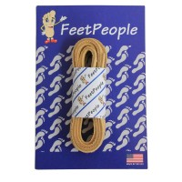 FeetPeople Leather Shoe/Boot Laces, Camel