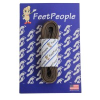FeetPeople Leather Shoe/Boot Laces, Chocolate Brown