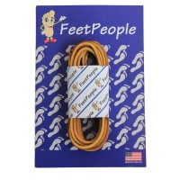 FeetPeople Leather Shoe/Boot Laces, Tan