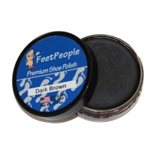 FeetPeople Premium Shoe Polish, 1.625 Oz., Dark Brown