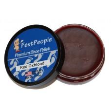 FeetPeople Premium Shoe Polish, 1.625 Oz., Red/Oxblood