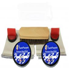 FeetPeople Premium Leather Care Refill Kit, Black