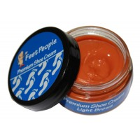 FeetPeople Premium Shoe Cream 1.5 oz, Light Brown