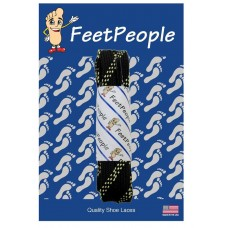 FeetPeople Strong Flat Laces, Black Reinforced w/ Natural Kevlar