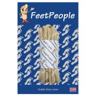 FeetPeople Strong Round Laces, Tan Reinforced w/ Natural Kevlar
