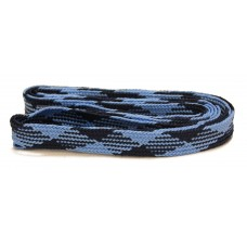 FeetPeople High Quality Fat Laces For Boots And Shoes, Navy/Carblue Argyle