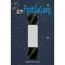 FootGalaxy Strong Flat Laces, Black Reinforced w/ Natural Kevlar