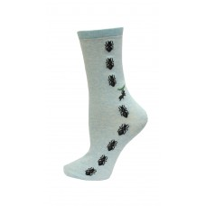 HotSox Ants Socks, Mint Melange, 1 Pair, Women Shoe 4-10