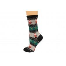 Hot Socks Santa Fairisle Women's Socks 1 Pair, Black, Women's Shoe Size 9-11