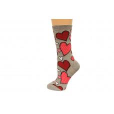 Hot Socks Hearts Women's Socks 1 Pair, Sweatshirt Grey, Women's Shoe Size 9-11