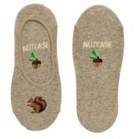 HotSox Womens Nutcase Socks, Sweatshirt Grey Heather, 1 Pair, Womens Shoe 4-10