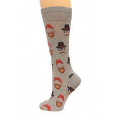Hot Socks Hipster Guy Men's Socks 1 Pair, Sweatshirt Grey, Men's Shoe Size: 10-13