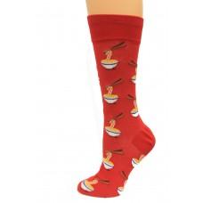Hot Socks Noodles Men's Socks 1 Pair, Red, Men's Shoe Size: 10-13