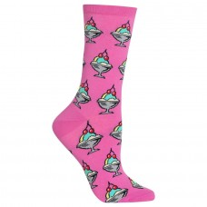HotSox Womens Ice Cream Sundae Socks, Pink, 1 Pair, Womens Shoe 4-10