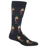 HotSox Mens Leprechauns Socks, Black, 1 Pair, Mens Shoe 6-12.5