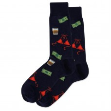 HotSox Bachelor Party Socks, Navy, 1 Pair, Men Shoe 6-12.5