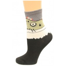 K. Bell Boy's Zombie, Black, Sock Size 7.5-9/Shoe Size 11-4, 1 Pair